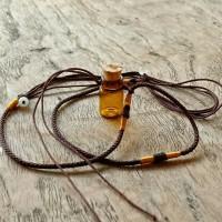 Kalung Pria Wanita Liontin Botol Minyak Unik Cantik