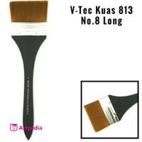 V-Tec Kuas 813 No.8 Long / kuas lukis