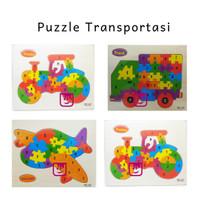Mainan Edukatif / Edukasi Anak Puzzle Kayu Bentuk Transportasi