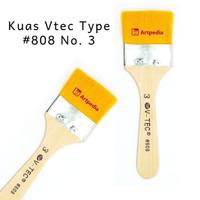 V-Tec Kuas 808 No.3 / kuas lukis Vtec - Kuas Vtec Type #808 No. 3