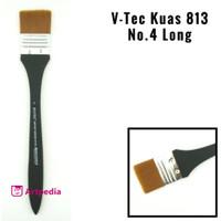 V-Tec Kuas 813 No.4 Long / Kuas Lukis