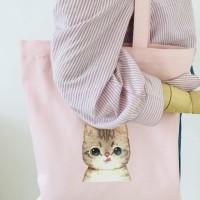 TC42 Korea Miau Tote Bag / Tas Wanita / Tas Motif Kucing