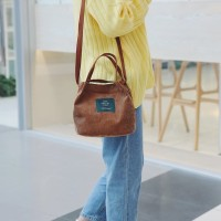 TC41 Korea Fresh Solid Color Mini Corduray Shoulder Bag / Tas Bahu