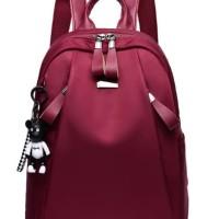Tas Ransel Wanita Korea Style Import Murah RED MERAH HTI2226