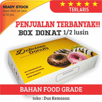 Box Dus Kemasan Kotak Donat uk 27 x 18,5 x 5,5 cm FOODGRADE