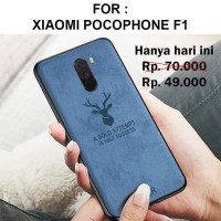 Case Xiaomi Pocophone F1 softcase casing cover leather tpu slim DEER