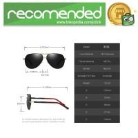 Kacamata Hitam Pria Aluminium Polarized Sunglasses - 8725 - Silver Bi