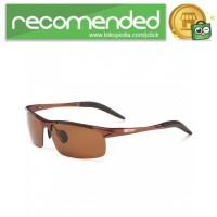 Kacamata Hitam Pria Magnesium Polarized Sunglasses - 8177 - Coklat