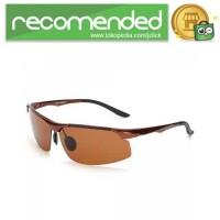 Kacamata Hitam Pria Magnesium Polarized Sunglasses - 8003 - Coklat