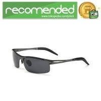 Kacamata Hitam Pria Magnesium Polarized Sunglasses - 8177 - Hitam