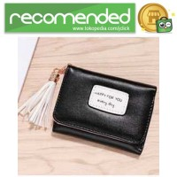 Dompet Wanita Model Happy For You Everyday - L-1003 - Hitam