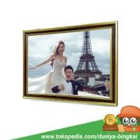 Harga bingkai foto a3 murah 30x40 cm coklat | antitipu.com