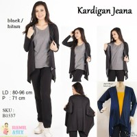 Jeana Kardigan jeans spandex Hitam / Biru
