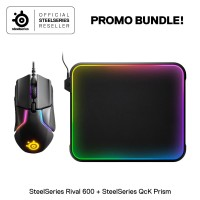 Steelseries Rival 600 Gaming Mouse Bundle Qck Prism Gaming Mouse pad