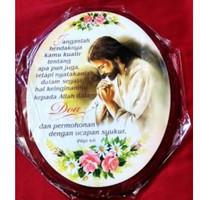Hiasan Dinding Kristiani Janganlah Kuatir Yesus Oval
