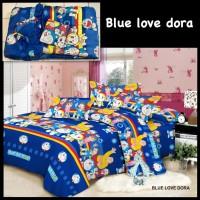 Bed cover set + Sprei motif Doraemon Ukuran King size ( 180X200 )