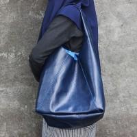 Tote Bag Kulit Premium Maya Navy