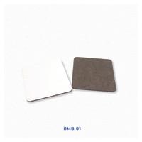 Tatakan Gelas Custom Polos Isi 6 Untuk Sablon Digital Sublimasi