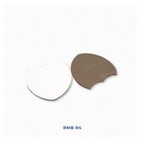 Tatakan Gelas Shield Polos Isi 6 Untuk Sablon Digital Sublimasi