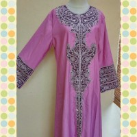 Gamis Abaya Balloteli Bordir Exclusive All Size fit to XL Size AE
