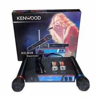 Harga mic wireless double kenwood kd 608 microphone mik tanpa | antitipu.com