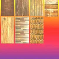 stiker kulkas 2 pintu motif kayu