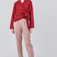 Jolie Clothing-Xavier Pants-Peach - Merah Salem, l