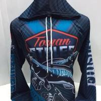 kaos jersey mancing bertopi-baju mancing bertopi toman style 763