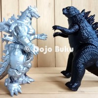Mecha Godzilla Silver Figure Monster Tinggi 17 cm