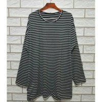 Harga tunik baju salur jumbo pakaian muslim bahan spandex fit xxl ld124 | antitipu.com