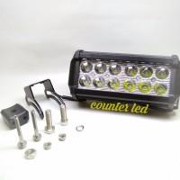 Lampu Tembak Sorot LED Bar CREE Motor 12 Titik Mata 2 Susun