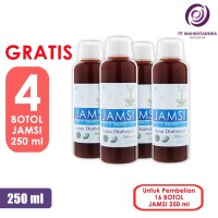 Paket Hemat 16 Jamsi 250ml GRATIS 4 - jamu herbal diabetes gula darah