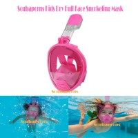 Kids Full Face Dry Snorkel Mask - Pink