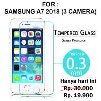 Tempered glass Samsung A7 2018 Triple Camera anti gores screen guard