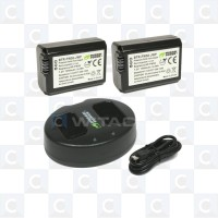 Wasabi Power Battery Kit for Sony NP-FW50