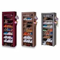 rak sepatu 10 susun resleting shoe rack cabinet