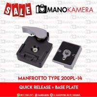 Quick Release dan Base Plate Tripod Monopod MANFROTTO TYPE 200PL-14