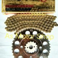 Harga gear set 428 gir depan sss belakang tk rantai wilwood motor honda | Pembandingharga.com