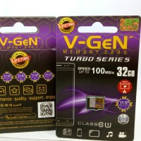 V-gen Micro SD Vgen 32GB Class 10 TURBO Class10 Memory Card ORIGINAL