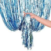Backdrop Foil Soft Blue/ Rumbai Foil/ Curtain Foil/ Background Foto