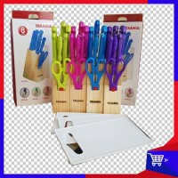 Pisau Set Texania 8Pcs/Knife Set 8 pcs/Pisau Dapur Talenan