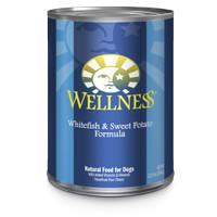 Wellness Whitefish&Sweet Potato Formula Canned Dog Food Makanan Anjing