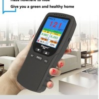 promoku Air Quality Detector 8 in 1 TVOC HCHO PM2.5 PM10 Haze Monitor