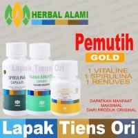 Tiens PEMUTIH PENCERAH BADAN Tianshi GOLD (Vitaline+Renuves+Spirulina)