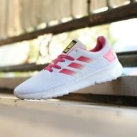 Sepatu Running Olahraga Wanita Adidas Questar Ride Putih Pink fb6153da75