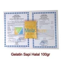 Gelatin Bubuk Import Bersertifikat Halal MUI 100gr