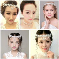 Hair piece hiasan rambut tiara wedding aksesoris pengantin HPC0235 thumbnail