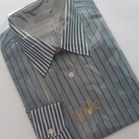 Kemeja Formal Cole Slim Fit Original Stripe Grey D9