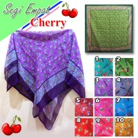 Jilbab Segi Empat Motif 4 Segiempat Cherry Murah Hijab Instan
