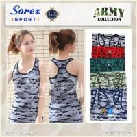 Dijual TERLARIS Baju Senam Kaos Olahraga Wanita Army Sorex 212 Murah